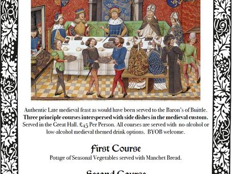 Baron's Medieval Dinner 27/8/21