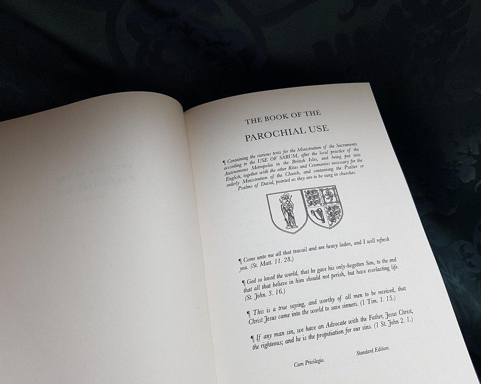 Book of the Parochial Use (Sarum Rite)