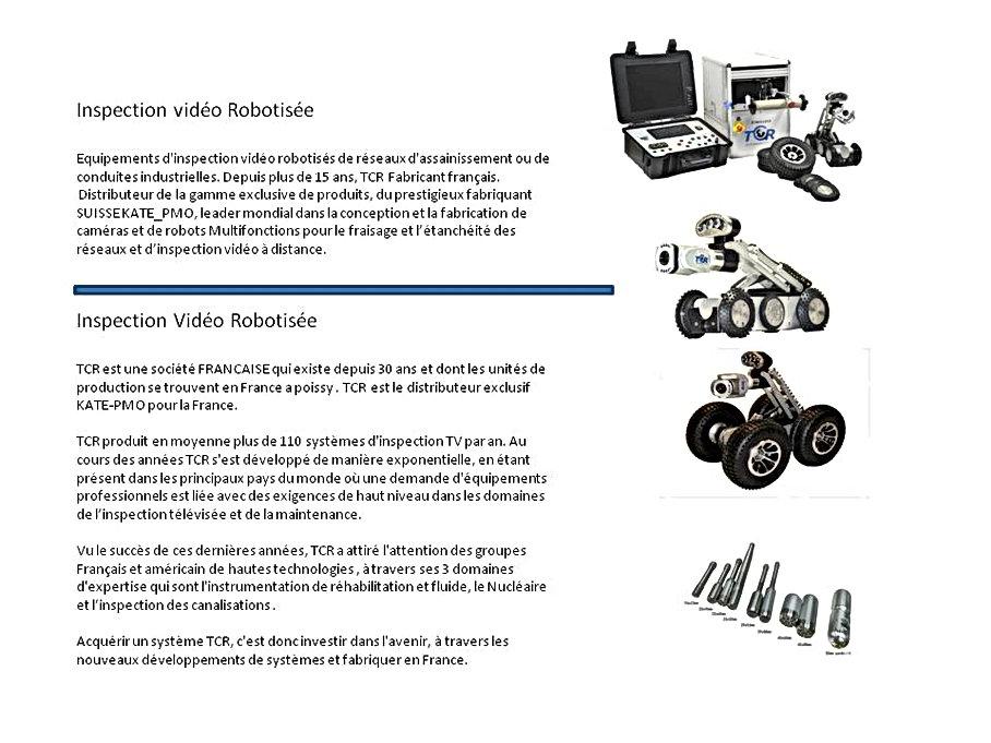 systeme de cameras d'inspection ITV