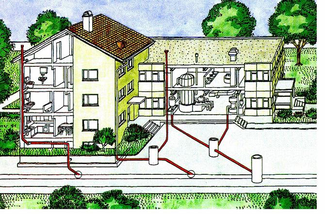 Méthode économique de réflexion de TCR par gainage pour les conduites de bâtiment et collecteurs pri