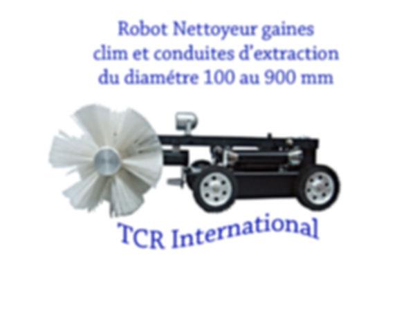 Robot nettoyeur gaines de clim et conduites
