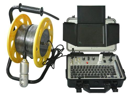 Caméra a tète rotative de diamètre 45 mm d'inspection et de contrôle des conduites verticale ( cheminées,puits,etc. )