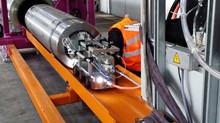 Extraction des colis hautement irradié par le robot et caméra de TCR International