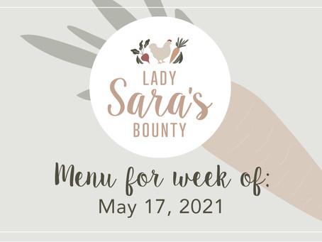 Menu - May 17th, 2021 (SOLD OUT)