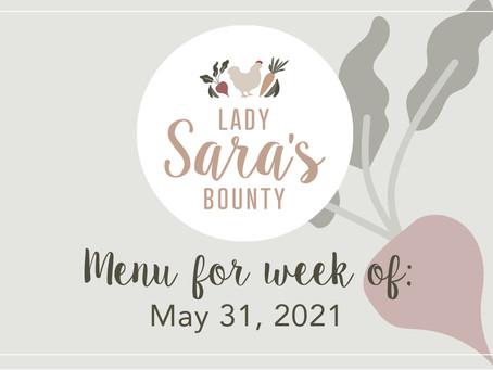 Menu - May 31st, 2021 (SOLD OUT)