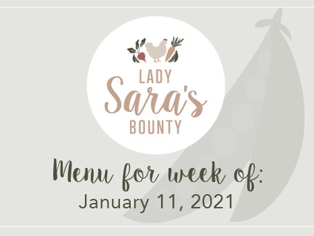 Menu - (SOLD OUT) January 11th, 2021