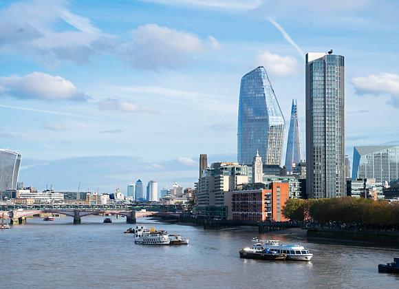 River Thames, London.  A4 Print.
