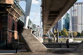 Hungerford Bridge and Golden Jubilee Bridge