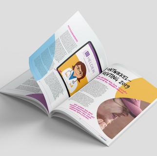 Magazine Nedap Grafisch ontwerp
