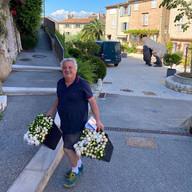 Jean Patrice et ses fleurs