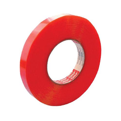 """Cinta doble cara 1"""" para metal roja (pz)"""