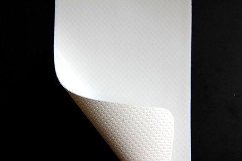 Lona blanca brillante UV 15oz de 320cm (mt)