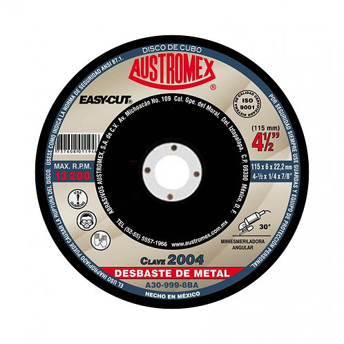 "Disco para desbaste de metal 4 1/2"" C-27 (pz)"