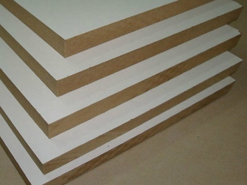 MDF 12mm 1/c blanco (hoja)