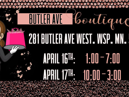 Outdoor Boutique this weekend in West Saint Paul- Friday, April 16 and Saturday, April 17th.