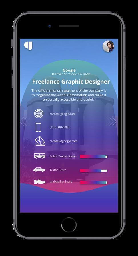 Swipe Screen Job Details