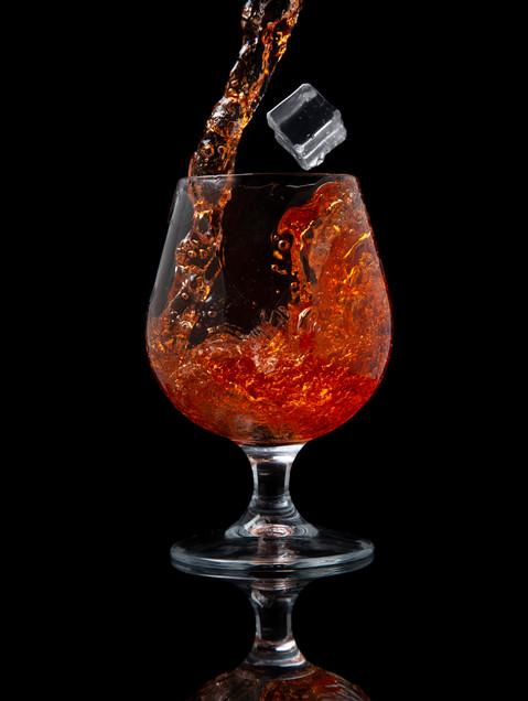 A glass of Cointreau