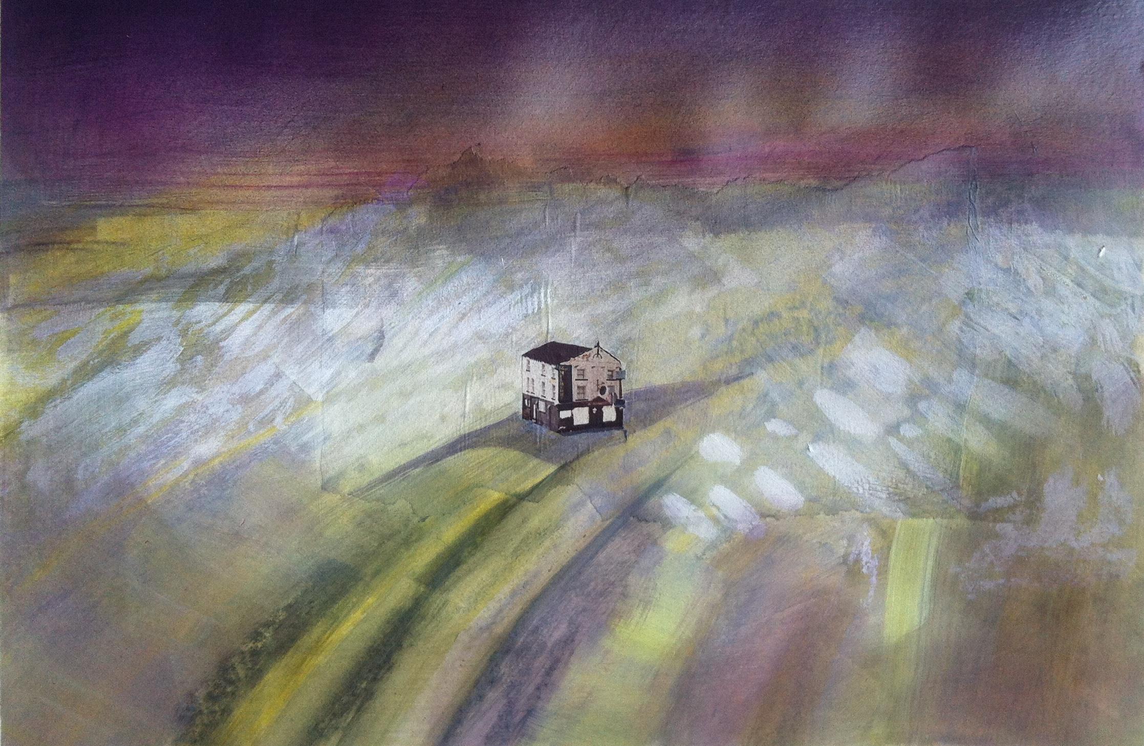 Gillian Holding Edgelands (Mulberry) (2013) mixed media on paper 35cm x 45cm£400