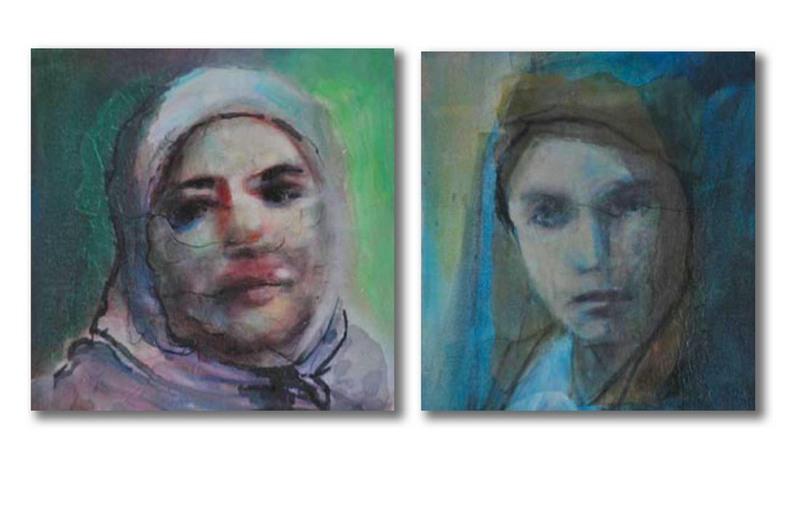 Diptych-Veiled assumptions I and II- Jews and Christians Wear Veils Too (2010) d