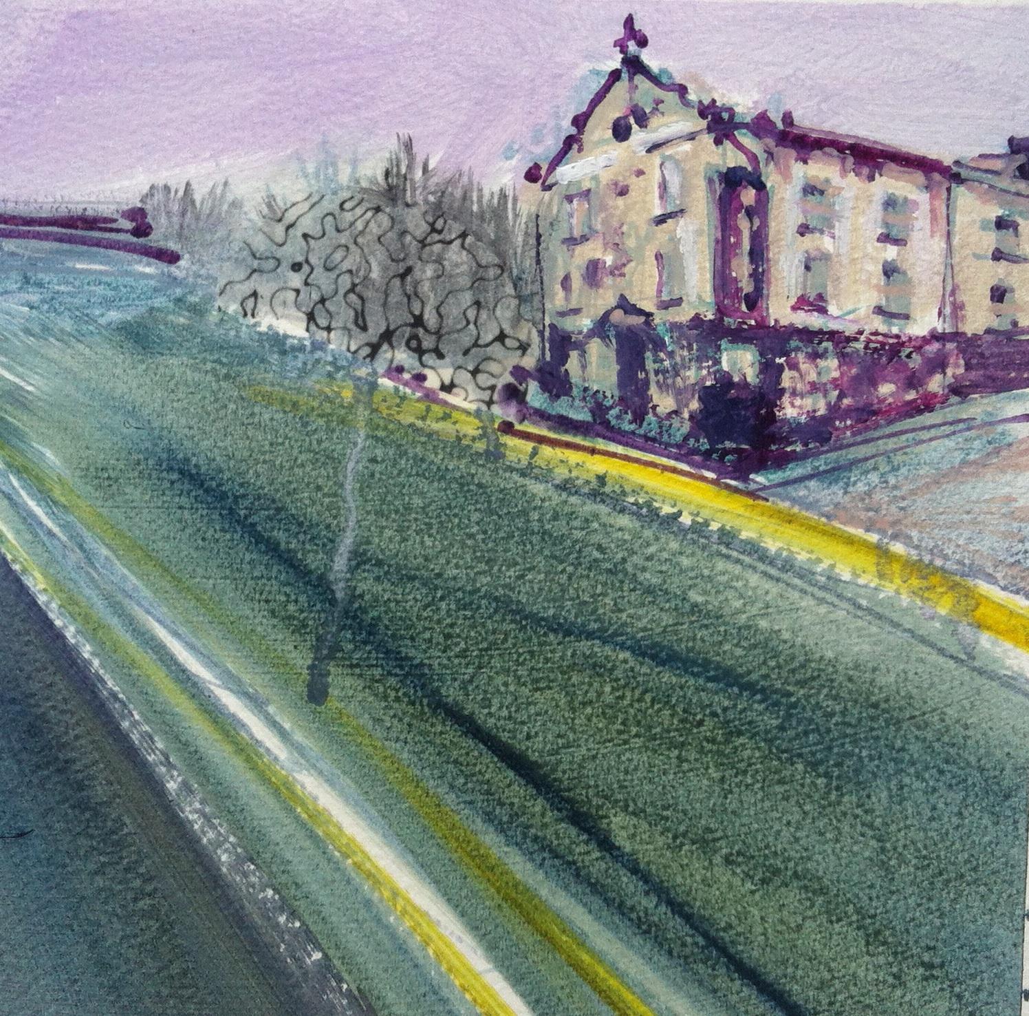 Gillian Holding Edgelands (Mulberry study) (2013) oil on paper 20cm x 25cm£300.j