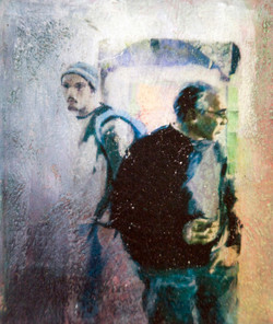 Good friends from both sides- dialogue happens (2010) mixed media on canvas with