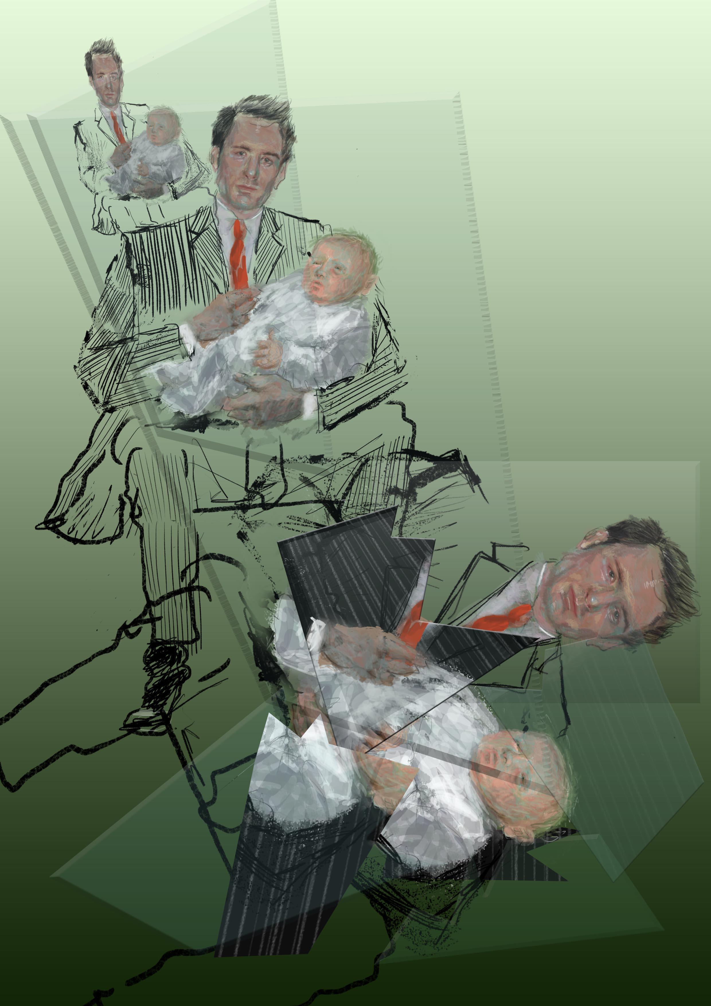 Gillian Holding Family Man 2009 Digital print on aluminium 30cm x 20cm ed.10 £30