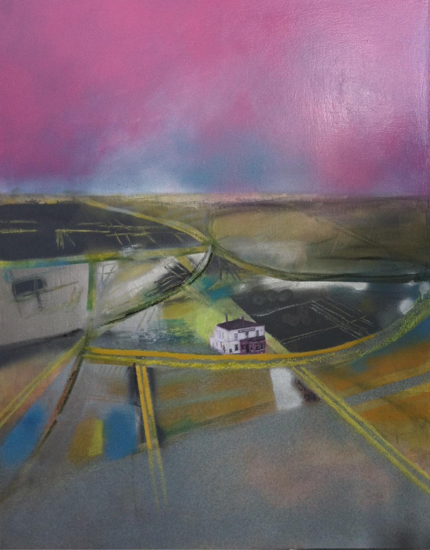 Gillian Holding Edgelands (Commercial Inn) (2013) mixed media on canvas £1500 10