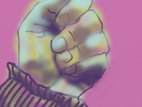 #adailyselfreflection on hands and power #ipaddrawings#draw365