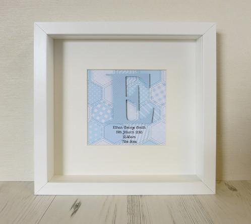 Baby\'s Initial Boy Box Frame