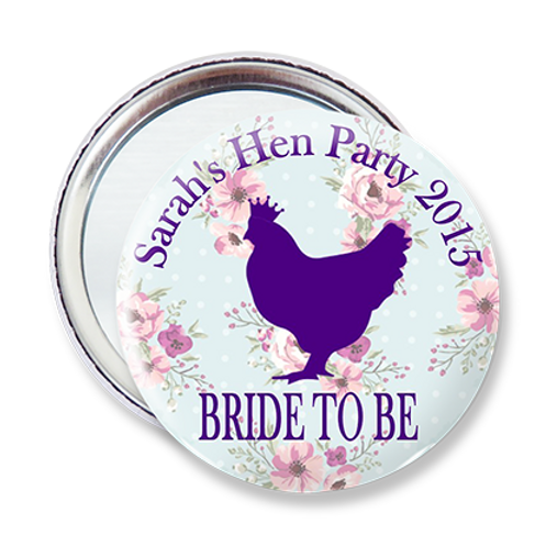 Floral Hen Silhouette