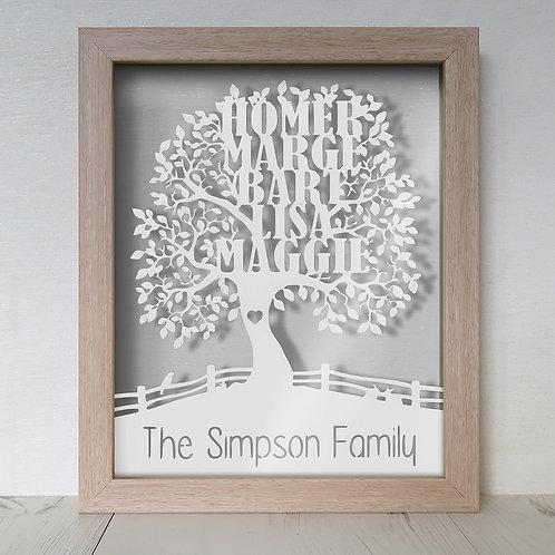 Family Tree Floating Frame