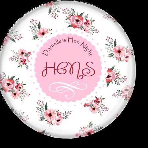 Floral Hen Party Badges 12+