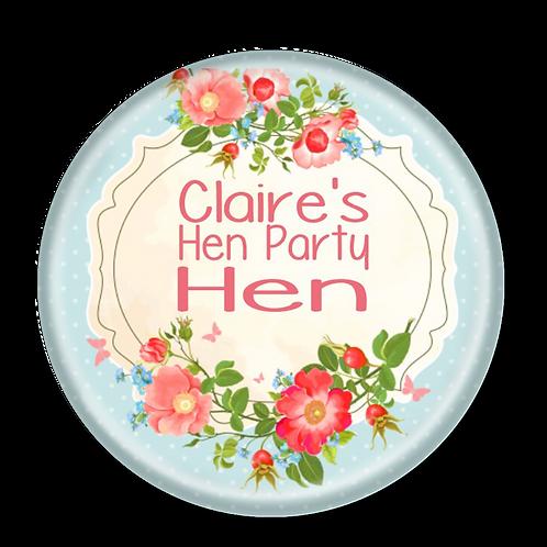 Floral Plaque Hen Party Badges 12+