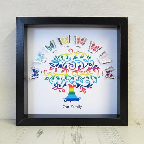 Rainbow Butterfly Tree Box Frame