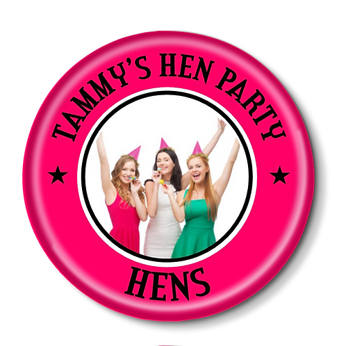 Your Photo Hen Party Badges 12+