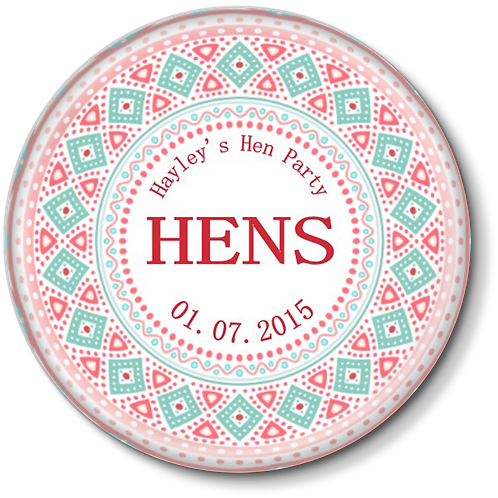 Tribal Print Hen Party Badges 12+