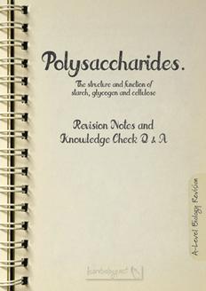Polysaccharides PDF