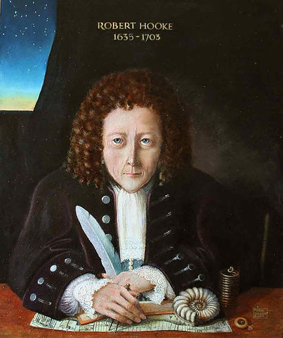 Robert Hooke: By Rita Greer - The original is an oil painting on board by Rita Greer, history painter, 2004. This was digitized by Rita and sent via email to the Department of Engineering Science, Oxford University, where it was subsequently uploaded to Wikimedia., FAL, https://commons.wikimedia.org/w/index.php?curid=7667243