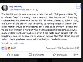Quel pazzo mondo chiamato finanza: Bridgewater vs Wall Street Journal