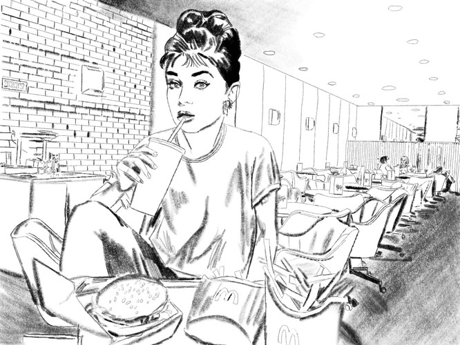 Eating McDonald's with Audrey Hepburn at Rae and Jerry's