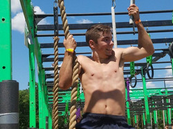 mission ready teen at obstacle course ra