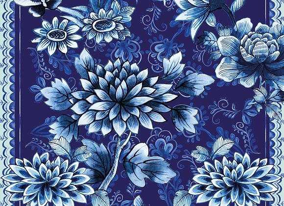 Batik blue