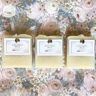 Coconut Milk Shampoo Bar - Charcoal & Rose Petals