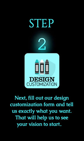 step two for website or logo checkout on Phoenix Design Co