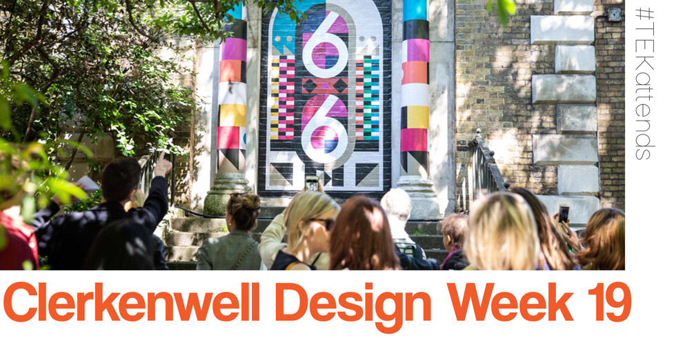Last week the TEK team attended the brilliant Clerkenwell Design Week ~ a threeday celebration of arich and diverse community. Did you knowClerkenwell is home to more creative businesses and architects per square mile than anywhere else on the planet?Making it truly one of the most important design hubs in the world. The design festivalshowcasesleading UK and international brands and companies presented in a series of incredibleshowroom events, exhibitions andshow stopping installations that take place across the area. 2019 celebrated 10 years of CWD which made it an extra special event and to show our admiration we've gathered our mostmemerablemoments from our time at the festival...