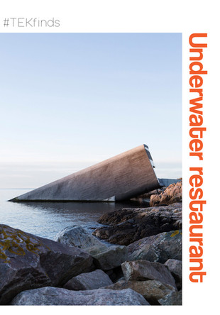 You heard it right ~ Under is Europe's first underwater restaurant and it definitelylooks as amazing as it sounds! The space plunges from theshoreline ofremote village of Båly, Norway and is designed bySnøhetta toresemble a sunken periscope...
