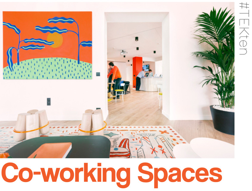 In light of an exciting new #TEKinteriors project we are working on, for the first month of 2019 we have been delving into the wonderful world of co-working. This style of work space offers creative freelancers the opportunity to become a part of a community, observing, socialising and working along side others in their industry. In a well designed co-working space your usual day at work can begin to feel more like a social movement, opening the door to endless inspiration...