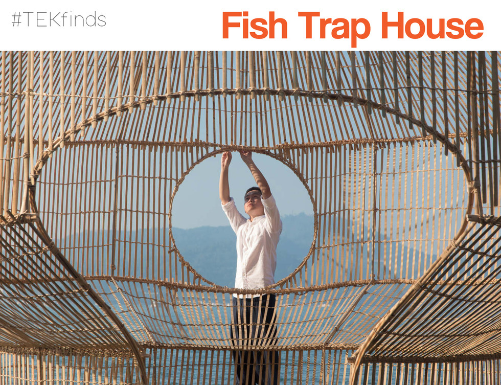 This incredible instillation is one by Cheng-Tsung Feng, known for his reinterpretation of bamboo craftsmanship. In this creation 'Fish Trap House' Feng in Taiwan showcases the beauty of ancient wisdom, bringing together his knowledge of...