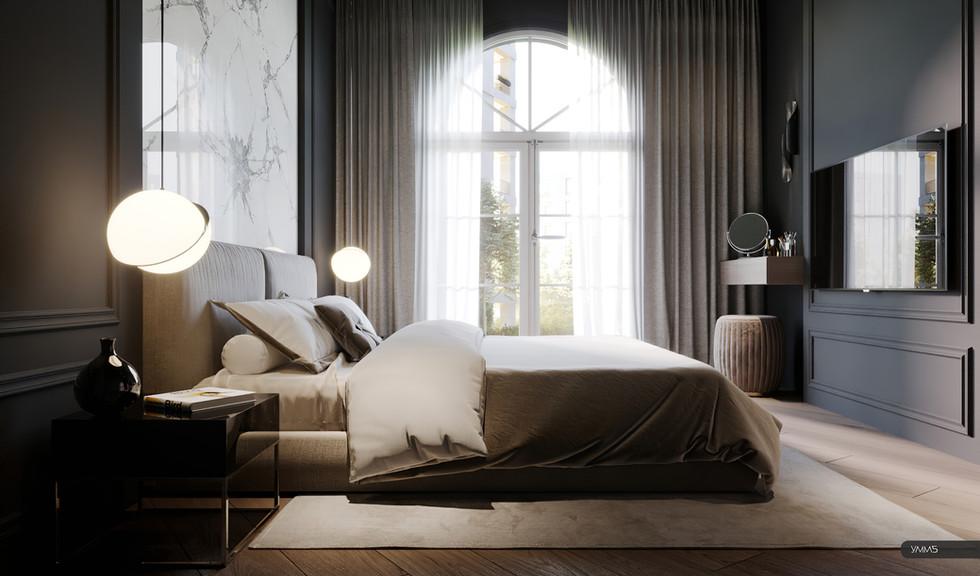 современный дизайн, современный интерьер, современная спальня, спальня дизайн, керамогранит, модерн, модерн элеганс