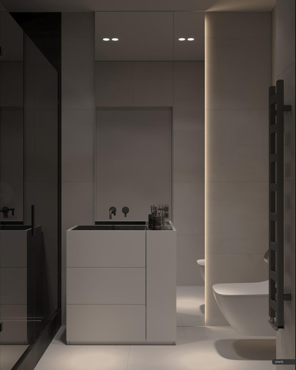 Дизайн интерьера ванной туалета Студия дизайна и архитектуры УММ5